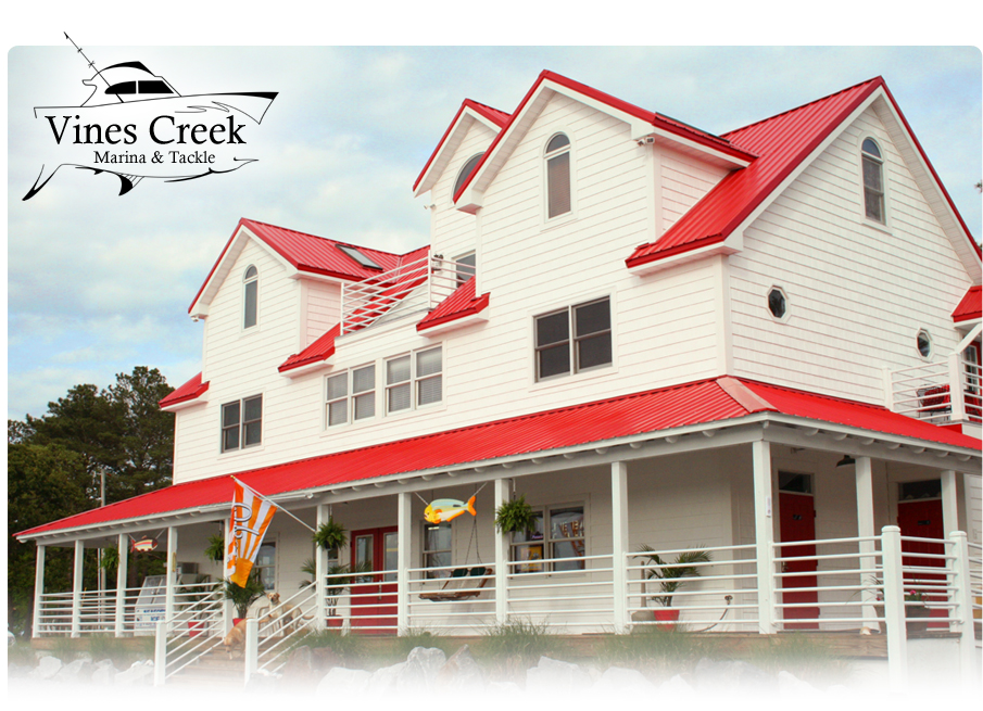 The newly renovated Vines Creek Marina Tackle shop